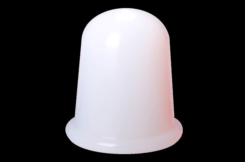 Silikonová baňka L Bílá