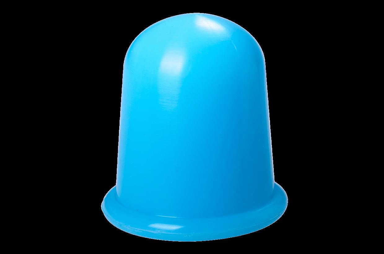 Silikonová baňka L Modrá