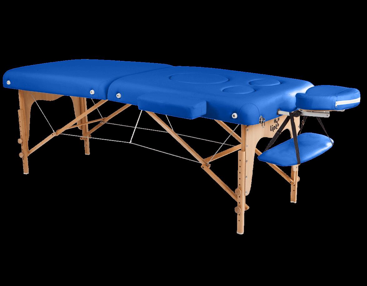 Masážní lehátko Lipt® DT-03 (těhotenské)  Modrá