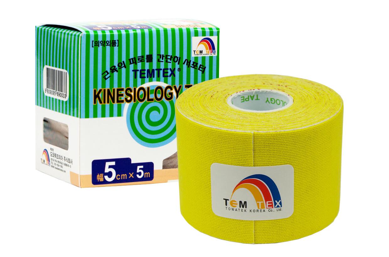 TEMTEX tape Classic 5 cm x 5 m Žlutá