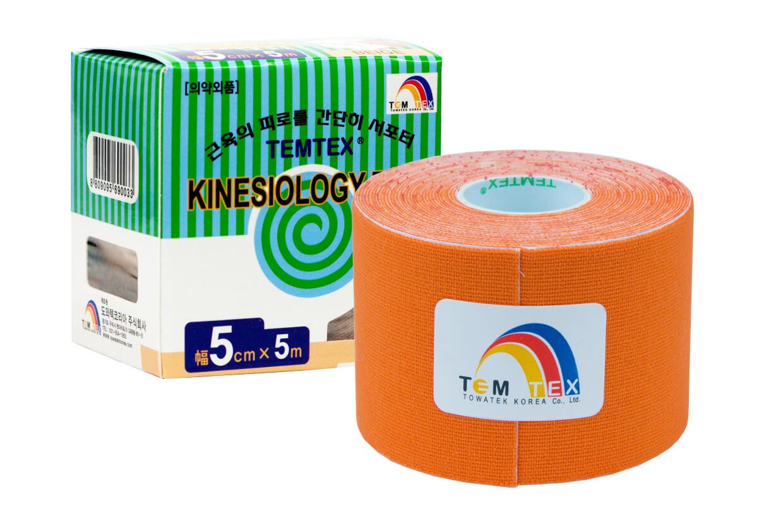 TEMTEX tape Classic 5 cm x 5 m Oranžová