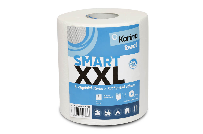 Papírová utěrka SMART XXL 2vrstvý 100m