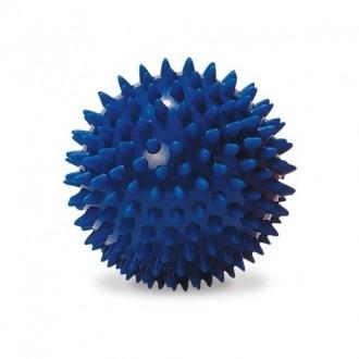 Míček - ježek, modrý, 10 cm