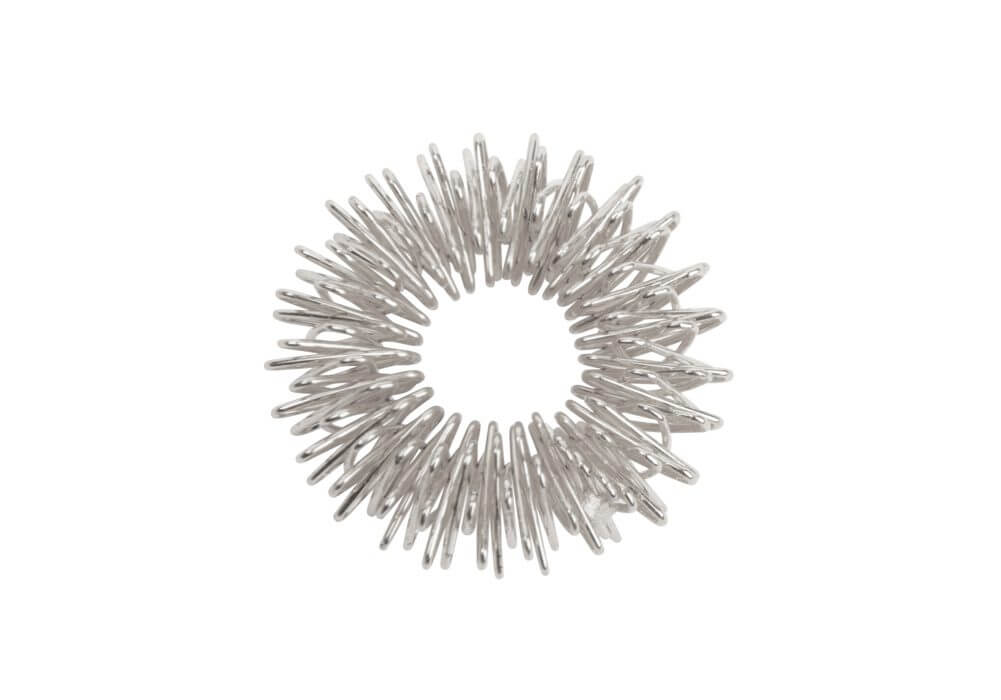 Akupresurní masážní prsten Stříbrná