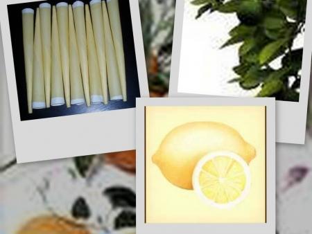 Tělové svíčky citrónové 10ks