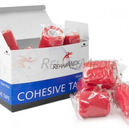 Cohesive tape 7,5cm x 4,6m Červená