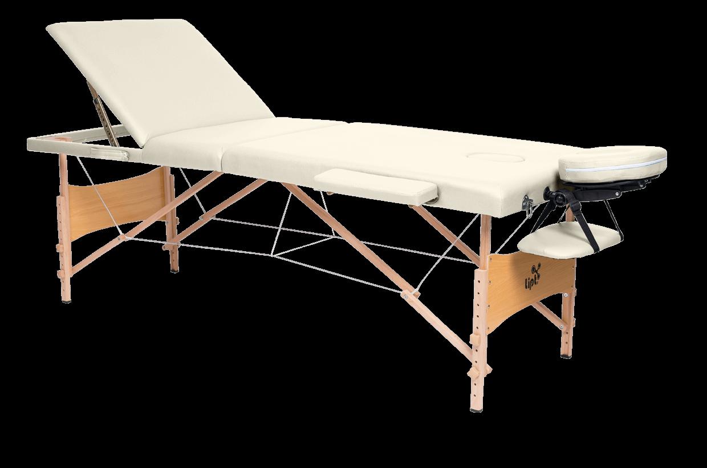 Masážní lehátko Lipt® DS-01V Krémová