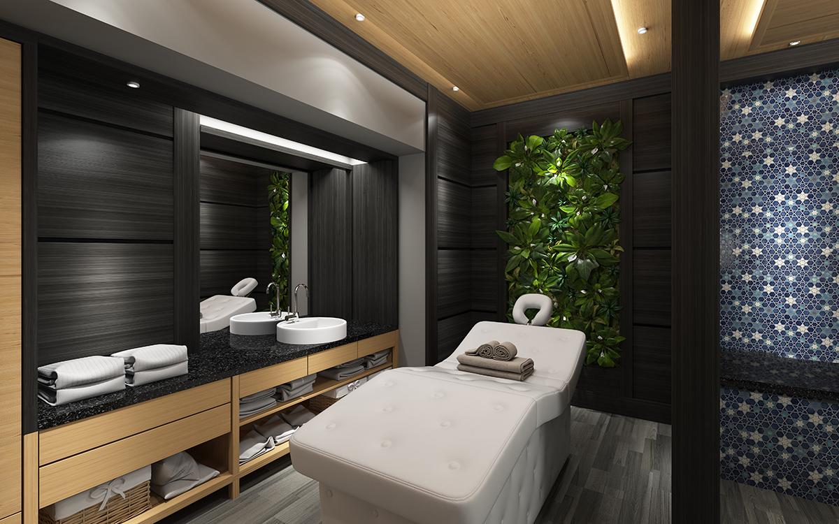 Vhodně umístěný nábytek může pomoci při zvukové izolaci masérské místnosti